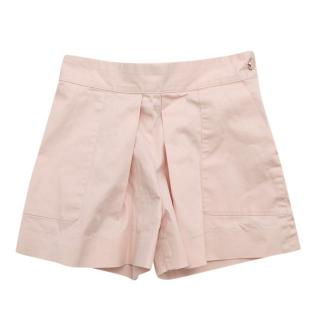 Bonpoint Pink Cotton Pleated Shorts