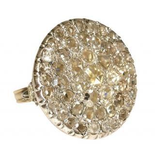 Bespoke Antique Georgian Rose Cut Diamond Dress Ring