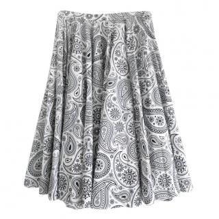 Jil Sander Black & White Printed Circle Skirt