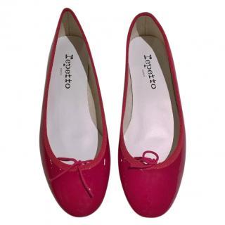 Repetto Red Patent Ballerinas
