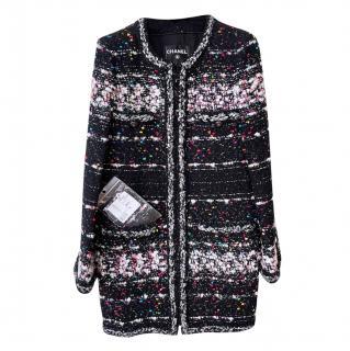 Chanel Supermarket Collection Metallic Fantasy Tweed Knit Runway Coat