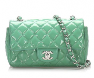 Chanel Mint Green Patent Mini Flap Bag