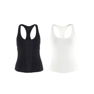 Ernest Leoty Black & White Corset Inspired Set of 2 Tank Tops