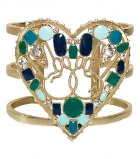 Chanel Fantasy Crystal Embellished Peace Cuff