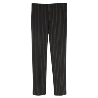 Gucci Grey Pinstripe Wool Tailored Trousers