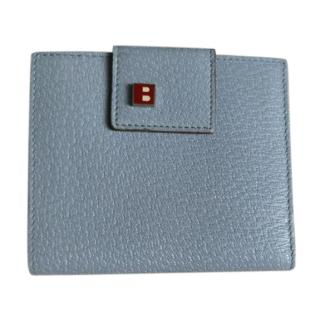 Bally Blue Grained Leather Wallet