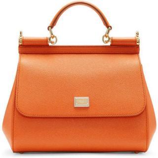 Dolce & Gabbana Orange Medium Sicily Tote Bag