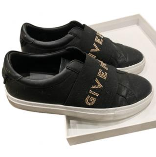 Givenchy Black Studded Logo Strap Sneakers