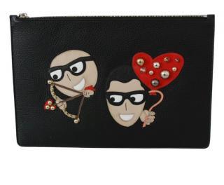 Dolce & Gabbana Black DGFAMILY Pouch
