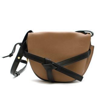 Loewe Mocca & Black Leather Small Gate Bag