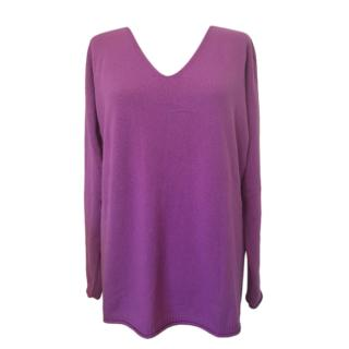 Max Mara Purple Knit Wool Jumper
