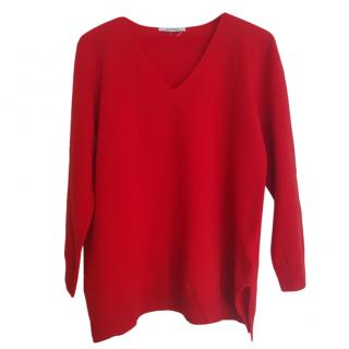 Max Mara Red Wool Knit Jumper