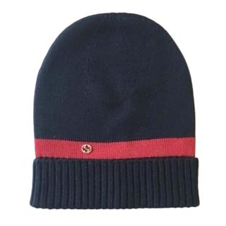 Gucci Blue Wool 100% Beanie Hat