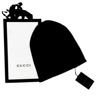 Gucci Black Wool Men's Beanie Hat