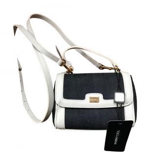 Dolce & Gabbana Denim/Leather Girls Crossbody Bag