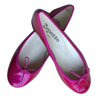 Repetto Pink Patent Leather Ballerinas