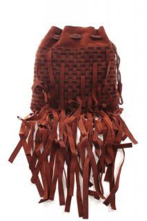 Bottega Veneta Brown Intrecciato Tassel Suede Bag