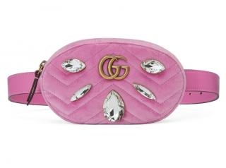 Gucci Marmont 2.0 Crystal & Velvet Belt Bag