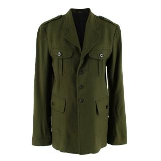 Haider Ackermann Green Military Inspired Wool Jacket