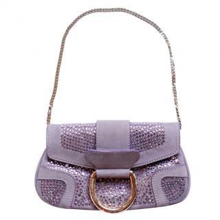 Dolce & Gabbana Lilac Crystal Embellished Bag
