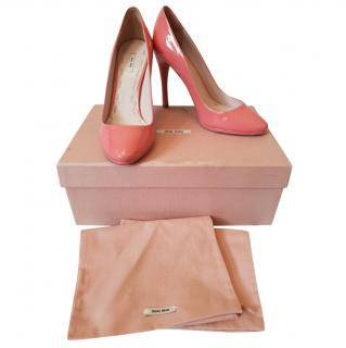 Miu Miu Pink Patent Leather Pumps