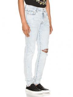 Amiri Broken Jeans in Sky Indigo