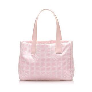 Chanel Pink Canvas Travel Line Shoulder Bag