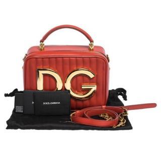 Dolce & Gabbana Red Quilted DG Shoulder Bag