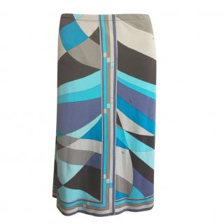 Emilio Pucci silk patterned skirt