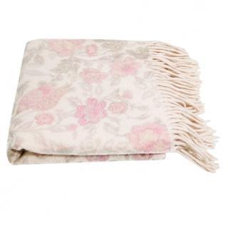 Loro Piana pastel floral cashmere scarf
