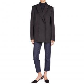 Acne Studios Deana Wool Blend Double Breasted Oversized Blazer