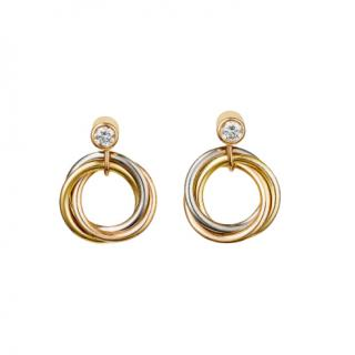 Cartier Sweet Trinity 18ct gold & diamond earrings