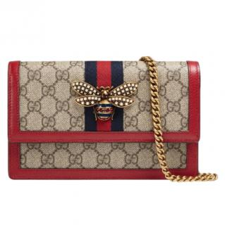 Gucci GG Supreme Coated Canvas Mini Queen Margaret Crossbody Bag