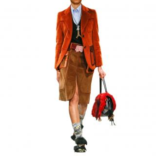 Prada Runway Corduroy Tailored Jacket