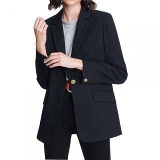 Rag & Bone Melton Wool Dark Blue Tailored Jacket