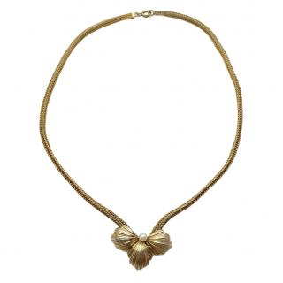 Christian Dior Gold Plated Vintage Seed Pearl Necklace