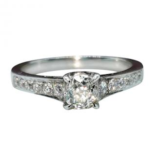 Bespoke Diamond Solitaire 18ct White Gold RIng