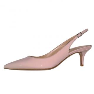 Gianvito Rossi Rose Pink Patent Slingback Sandals