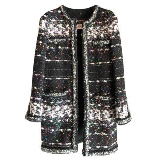 Chanel Supermarket Collection Fantasy Tweed Knit Runway Coat