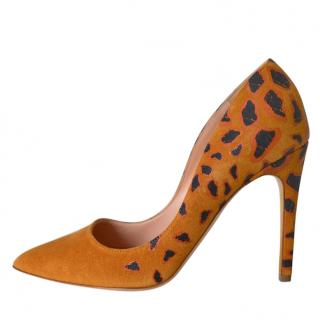 Rupert Sanderson Crosta Suede Heeled Pumps