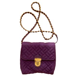 Prada Purple Quilted Nylon Crossbody Bag