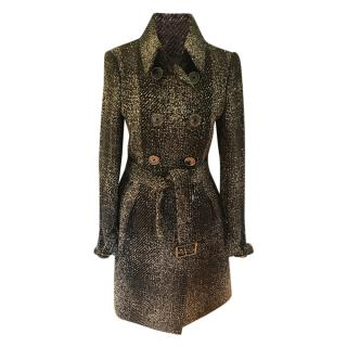 Burberry mixed wool trench style coat