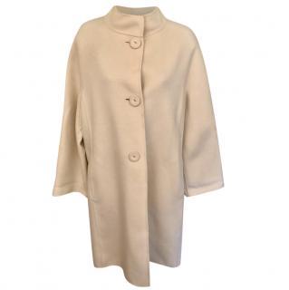 Georges Rech Cream Wool Oversize Coat