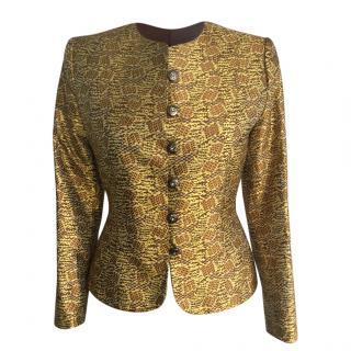 Yves Saint Laurent Vintage Gold Short Jacket