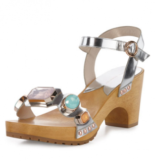 Sophia Webster Ava Metallic Gem Clog