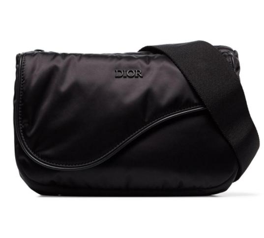 Dior Homme Black Nylon Universe Saddle Belt Bag