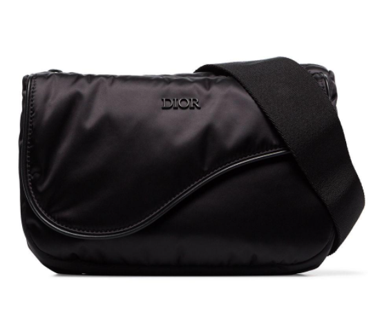 Dior Homme Black Nylon Universe Saddle Belt Bag