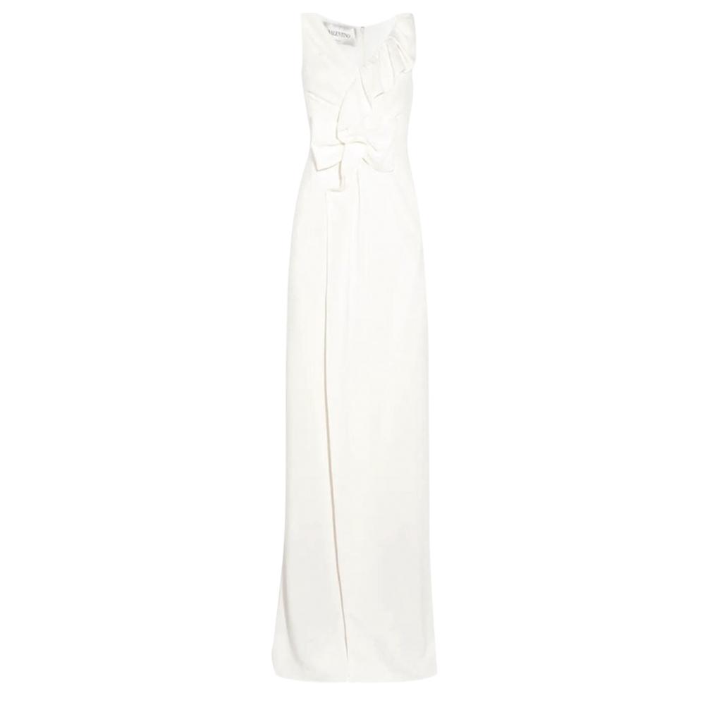 Valentino Ivory Sleeveless Ruffle Bridal Gown