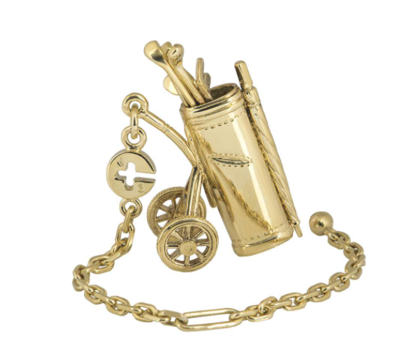 Dunhill Yellow Gold Golf Clubs Charm