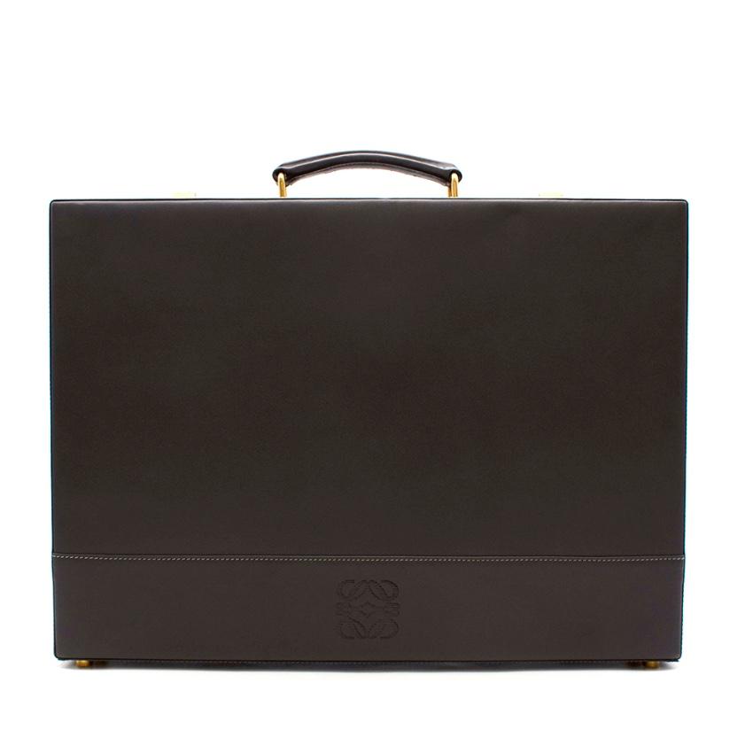 Loewe Grey Leather Vintage Briefcase